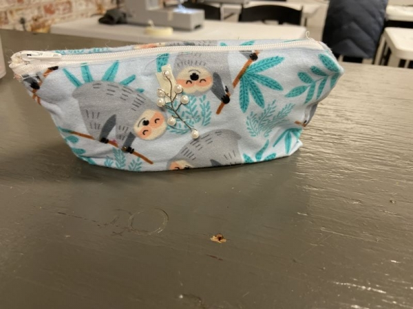 Pencil Case made by my 6th grade student - learn how to sew a zipper with lining for a small accessory.