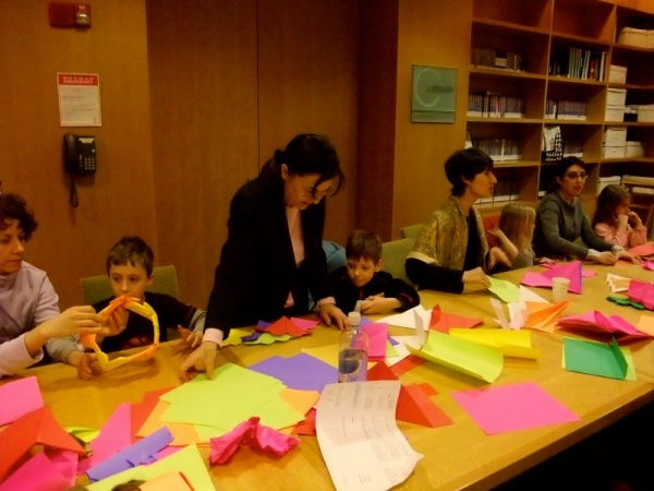Origami class at Manhattan Jcc  for children and adults
