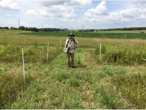 At my field site in Lawrence Kansas.