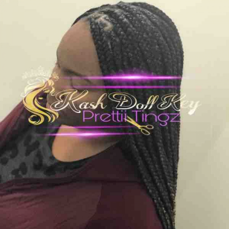 Knotless Braids are easier to learn how to do that regular box braids.