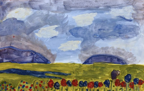 Aleesha, Grade 5, Tempera on Paper
