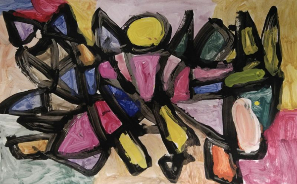 Eddie, Grade 2, Tempera on Paper