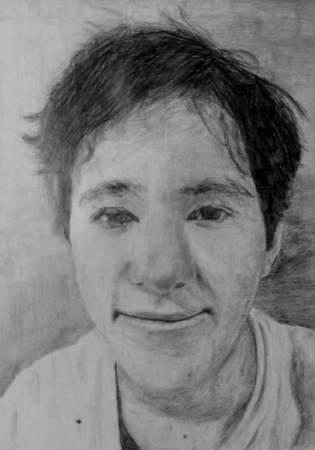 Eli, Grade 8, Pencil on Paper