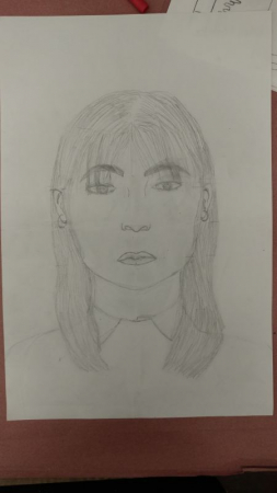 Brittany, Grade 8, Pencil on Paper