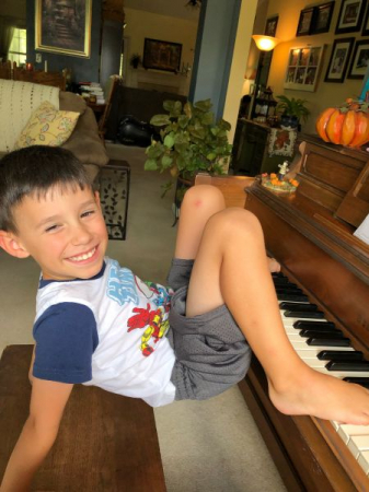 """A moment of fun when a young student looked at the next song's title: """"Playing with Fingers and Toes."""""""
