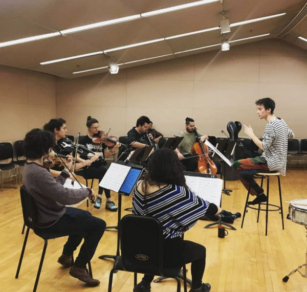 During rehearsal with Jacob Collier for his show at MIT, November 2018