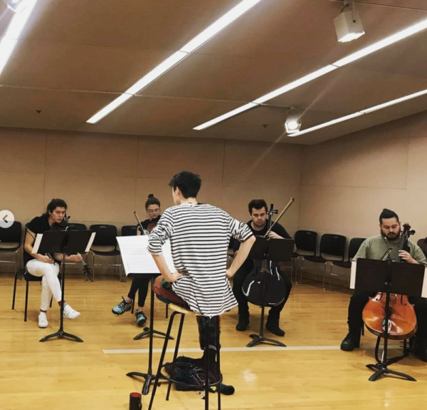 Rehearsal with Jacob Collier for his show at MIT, November 2018