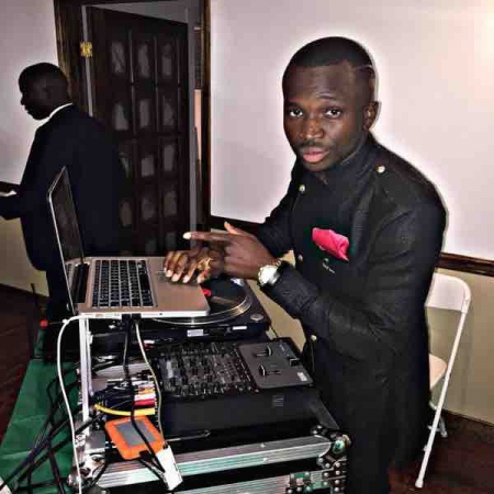 Djing at a wedding