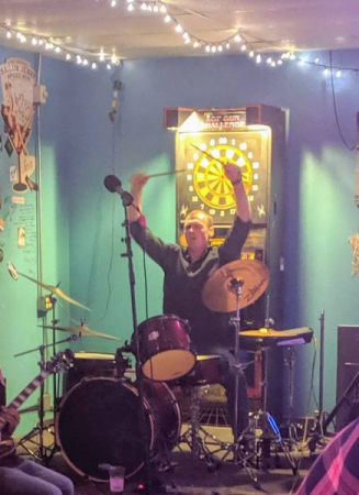 Rocking out in Arizona while on tour with my trio, The Kavalactones!