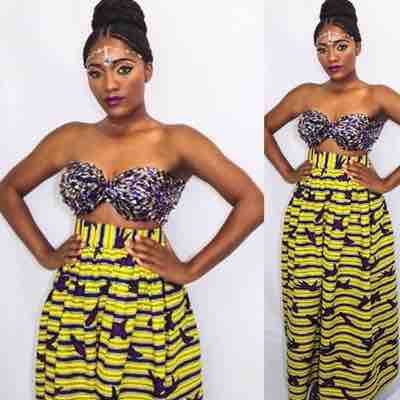 Custom Africa inspired 2 Piece Outfit Designed and made by yours truly Melissa George.