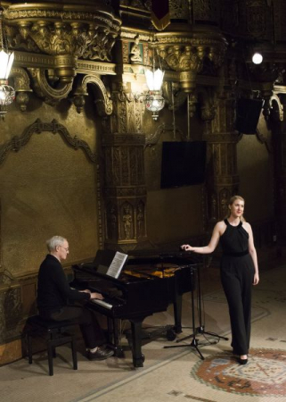 Performing at the United Palace of Cultural Arts in New York