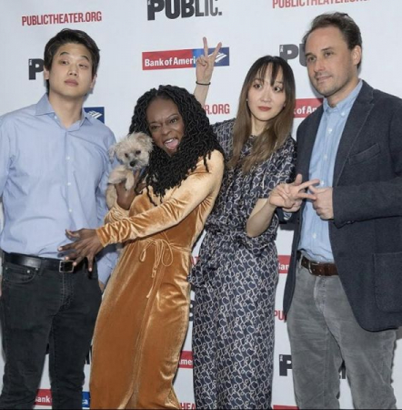 "The cast of ""Office Hour"" staged at the Public Theater"