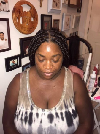 Large and easy box braids!