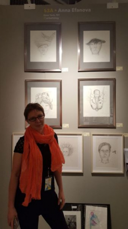 At my art exhibition