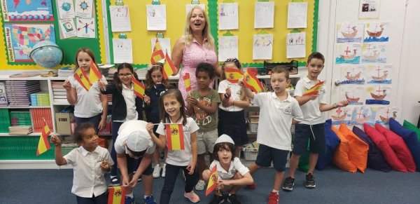 Teaching Spanish to 1st and 2nd graders!