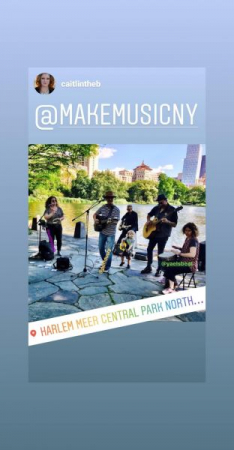 Performing at Make Music NY an all day music event that  happens all over the world.