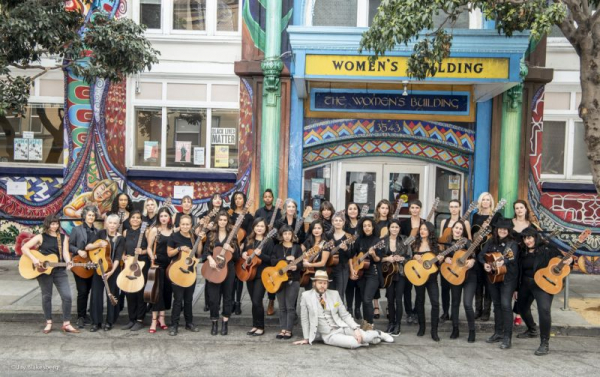 """Performing in Ragnar Kjartansson's """"Songs of the Patriarchy"""" in San Francisco's Women's Building, November 2018."""