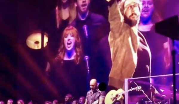 Singing backup for Josh Groban at the Blue Cross Arena in Rochester, NY.