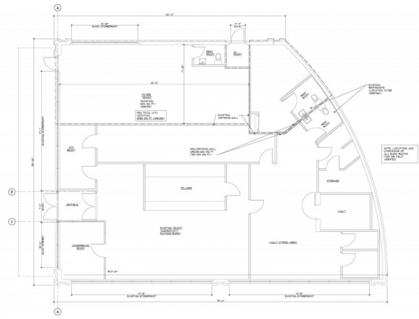 Bank Building - Village at Livingston;  Programs used - AutoCAD