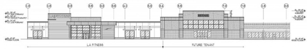 LA Fitness - Partial Elevation;  Programs Used -  AutoCAD