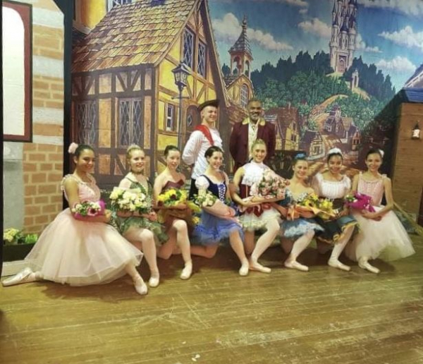 "After performance photo of my program's production of ""Coppelia"""