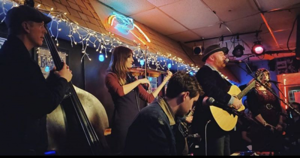 Playing at the prestigious Bluebird Cafe in Nashville, TN with John Salaway & the Stones River Saints.