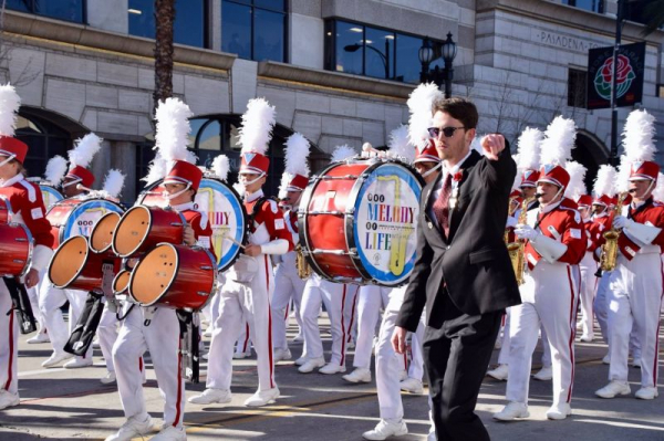 My band and I marching in the 2019 Rose Bowl parade.