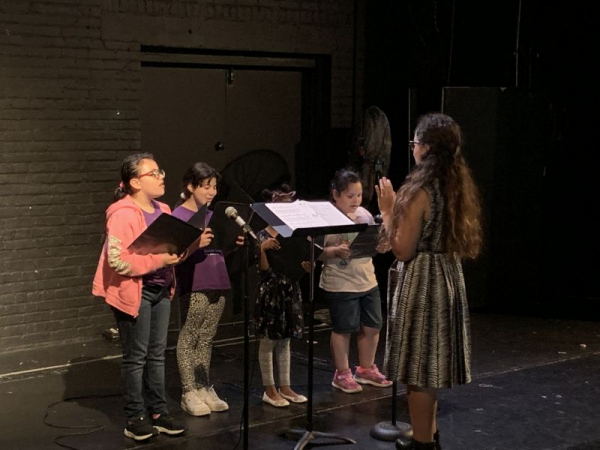 Linda Collazo's students in performance at The Point CDC