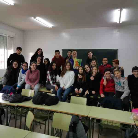 A picture of a class of mine during my time as an English teacher in Madrid, Spain.