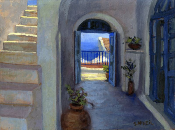 Painting in oil from my visit to Greece.