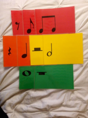 Basic rhythm flashcards