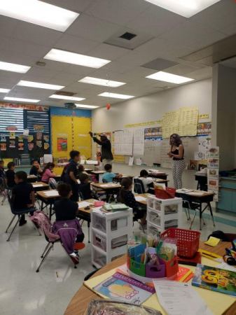 One of the classrooms I spoke to as a guest speaker at Eneida M Hartner elementary school