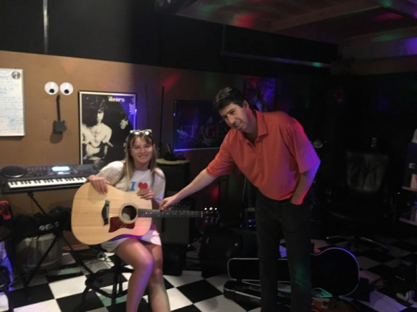 "The Youngest Person Ever To Be On NBC Tv's ""The Voice"" - Ava August n Me (Matthew) Going Over The Finer Points Of Playing Guitar Brilliantly"