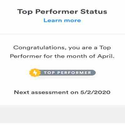 "Wooo! Happy to get ""Top Performer"" badger on Gig salad"