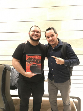 Brazilian Master Guitarist, Gabriel Santiago, with my first published book!