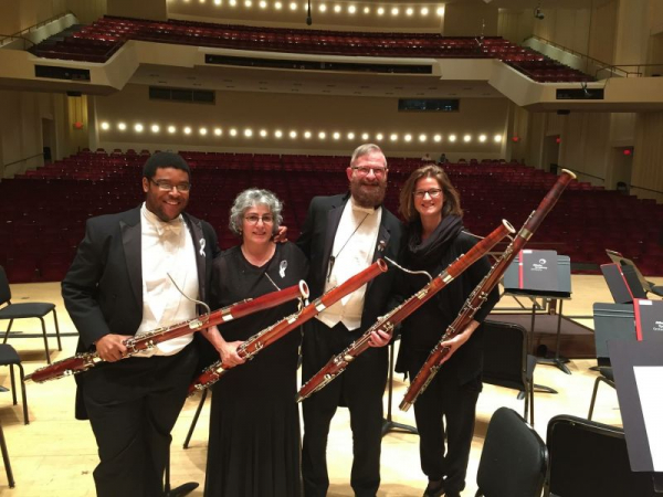 Performing with the Atlanta Symphony Bassoon section. What a blast!