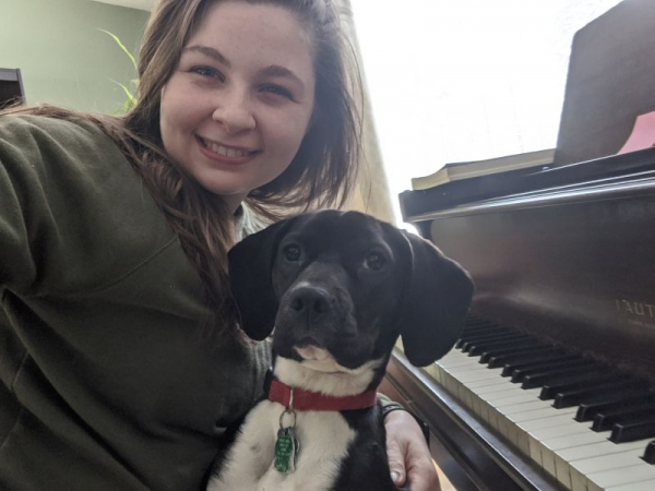 Practicing with my puppy!