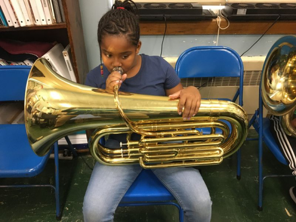Another one of my AMAZING beginning Tuba players!