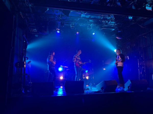 The Co Founder sound checking at Cyclone music venue in Tokyo Japan