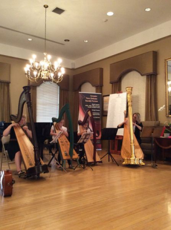 Students perform at the Poydras Retirement Home 2015