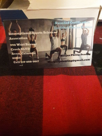 ISSA Personal Training Certification  Business Card