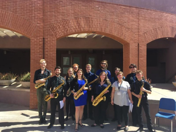 2020 NASA Conference. ETSU Saxophone Studio performed and premiered a piece.