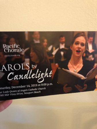 Pacific Chorale used this photo of me from a performance in some of their advertising material this year