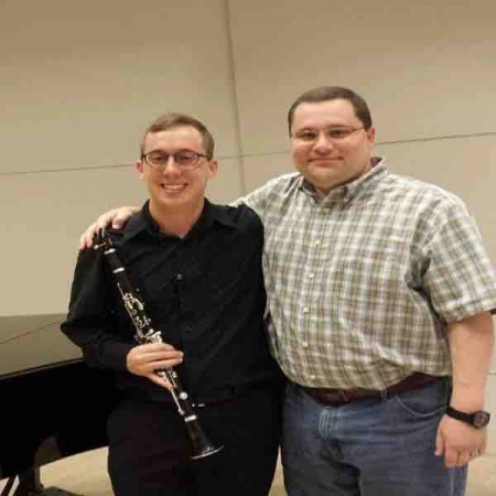 Here is a picture of me and my clarinet professor from college, Dr. Tim Phillips.