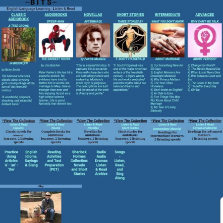 ESL BITS--This website offers English teachers and students different audiobooks and audio stories in English.
