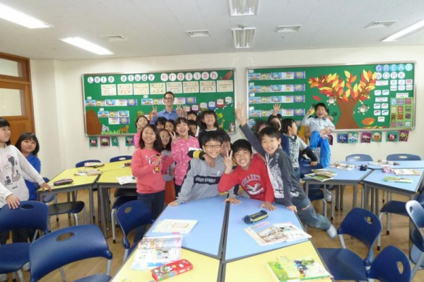 My students in Seoul, South Korea