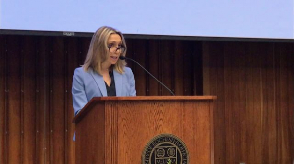 Accepting Award and giving a talk about Teaching at The University of Rochester.