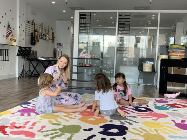 Group Montessori Music Lessons younger group-age