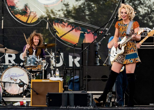 On stage with Samantha Fish in Tampa, FL