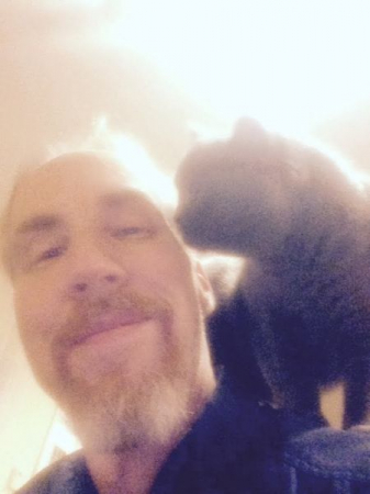 My students cat, Blue, use to like to hop on my shoulders while we were having a lesson.